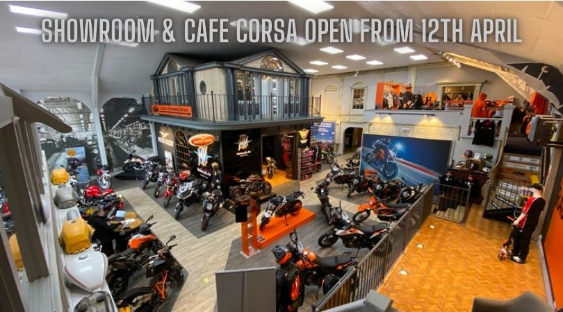 Showrooms and Cafe Corsa reopen 12th April