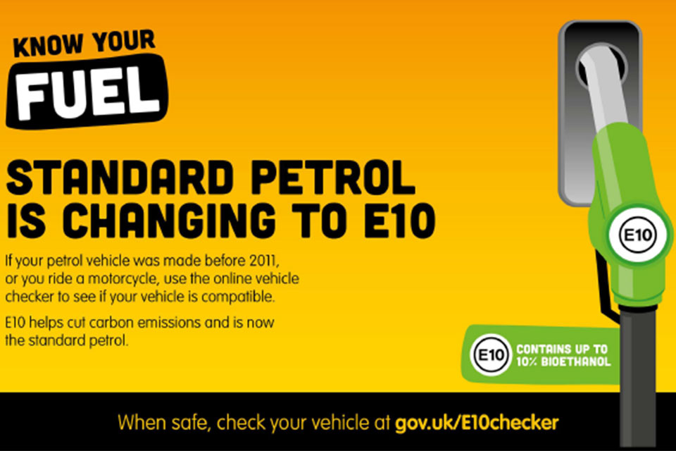 Can I put E10 petrol in my motorcycle?