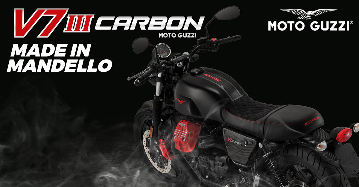 MOTO GUZZI V7 CARBON DARK - MADE IN MANDELLO