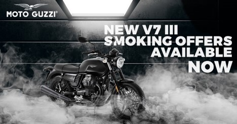 NEW V7 III SMOKING OFFERS AVAILABLE NOW