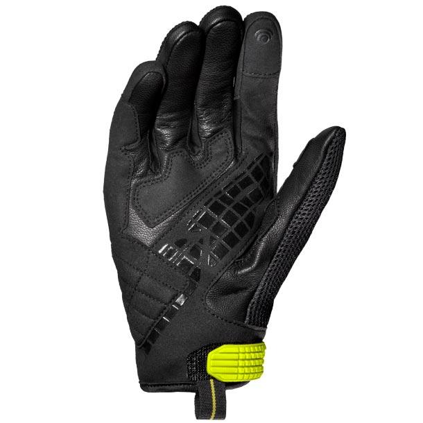 SPIDI-G-CARBON-BLACK-FLUO-SHORT-LIGHTWEIGHT-MOTORCYCLE-MOTORBIKE-SUMMER-GLOVES miniature 2