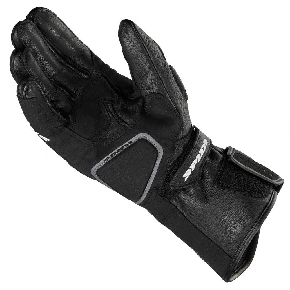 SPIDI-STR-5-CE-BLACK-MENS-LEATHER-MOTORCYCLE-MOTORBIKE-SPORTS-BIKE-GLOVES miniature 2